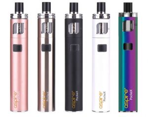 E-cigarette Aspire PockeX in different colours