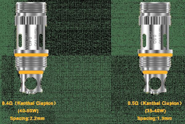 Aspire Atlantis EVO Innokin Slipstream Coil Heads for vape devices and e-cigarettes
