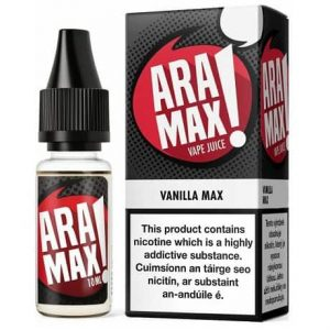 E-liquid Aramax Vanilla Max 10ml bottle