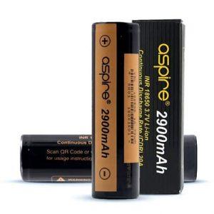 Aspire 18650 Vape Batteries with 2900mAh capacity