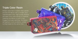 Triple Colour Resin Design of Pod System Aspire Mulus