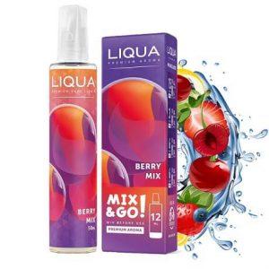 Berry Mix fruity flavoured e-liquid bottle with juice splash by Liqua Mix&Go