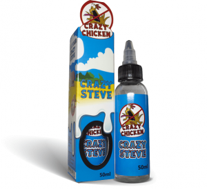 Crazy Steve by Crazy Chicken E-liquid Bottle