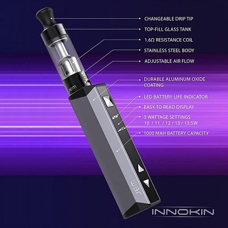 Innokin JEM functions and settings in detail