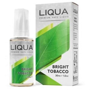 Liqua Bright Tobacco e-liquid in a 10ml bottle
