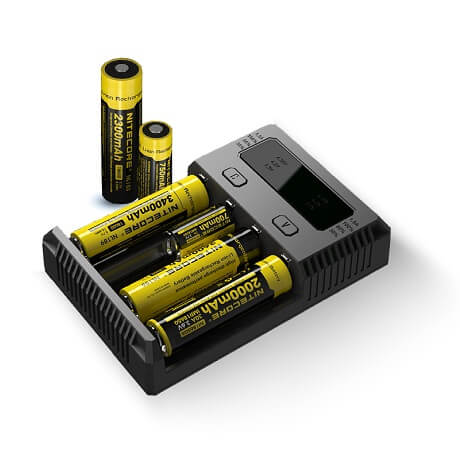 New i4 battery charger for 18650 and 21700 vape battery
