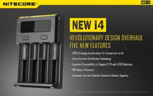 Nitecore NEW i4 battery charger poster