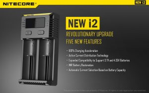 Nitecore NEW i2 Battery Charger Poster