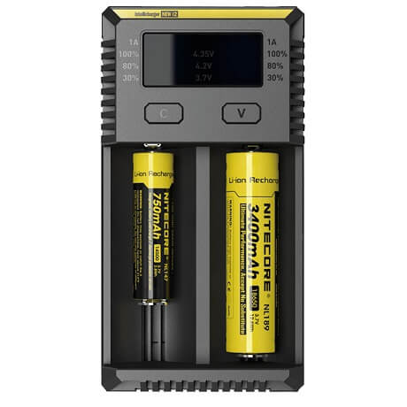 18650 battery charger Nitecore NEW i2 front view