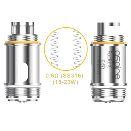Aspire Pockex Replacement Coil Heads in detail