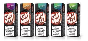 Selection Of Aramax e-liquids