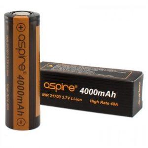 Aspire batteries for e-cigarettes