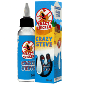 50ml e-liquid Shortfill bottle Crazy Chicken Crazy Steve