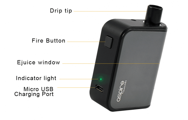 e-cigarette Aspire Gusto mini vape device