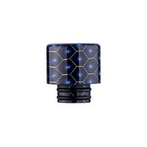 510 Drip Tip for e-cigarettes in a blue cobra design