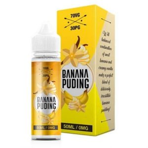 Banana Puding 60ml shortfill e-liquid bottle by Elda