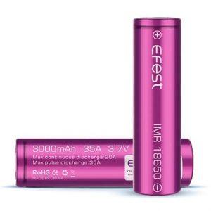 Efest 18650 IMR Vape Batteries 3000mAh