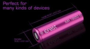 Efest 18650 Battery Dimensions