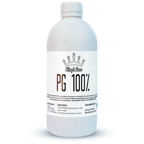 100% PG e-liquid vape base in a 500ml bottle by King's Dew