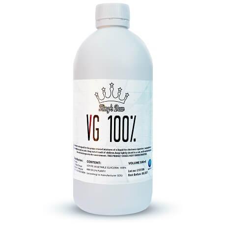 100% VG Vape Base 500ml bottle by King's Dew