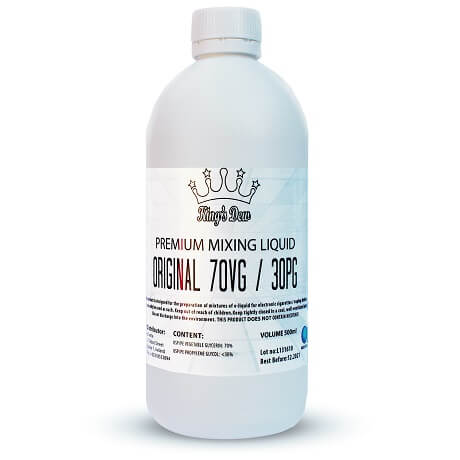 VG/PG 70/30 Nicotine free e-liquid base in a 500ml bottle by King's Dew