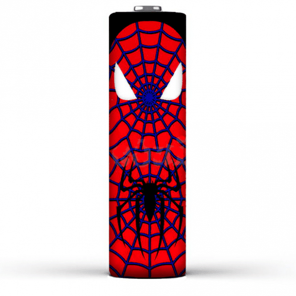 e-cigarette battery foil spiderman