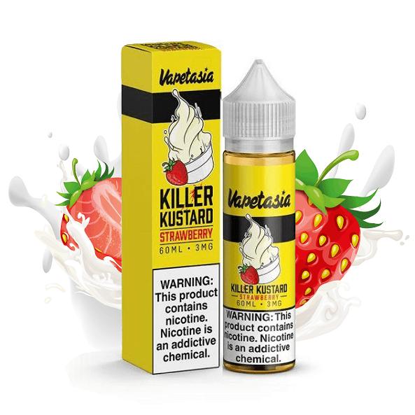 Vapetasia Killer Kustard Strawberry eliquid bottle