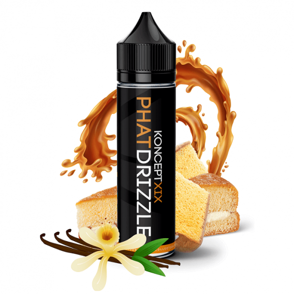 Phat Drizzle KonceptXIX e-liquid with vanilla, sponge cake and caramel