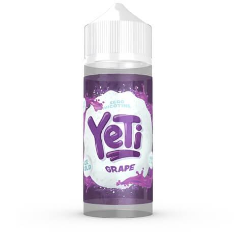 100ml vape juice bottle Grape Ice by Yeti