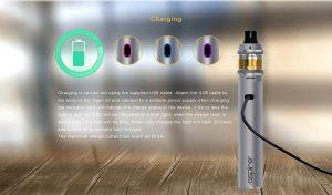 Charging Aspire Tigon starter kit via USB cable
