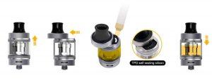 Guide to refill e-cigarette Aspire Tigon with an e-liquid