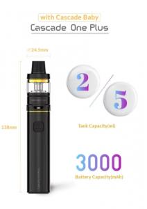Vaporesso Cascade One plus e-cigarette size