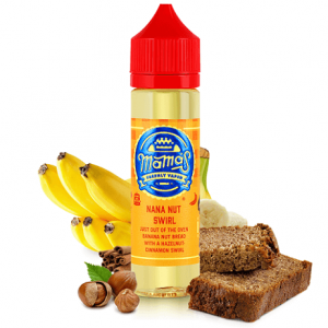 Mama's Nana Nut Swirl e-liquid shortfill bottle