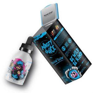 Slow Blow Nasty Juice e-liquid bottle and alu packaging