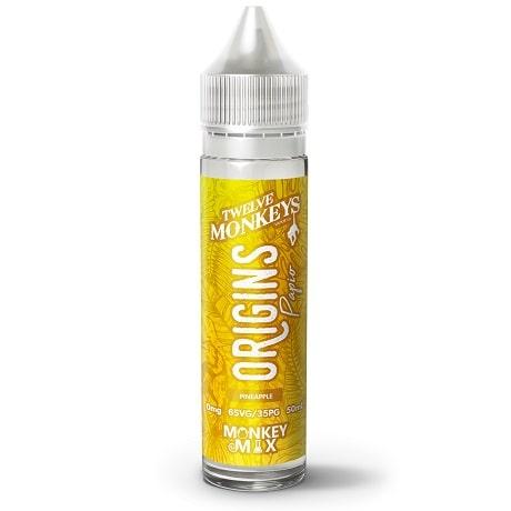 Origins Papio - 12 Monkeys 50 ml e-liquid bottle with pineapple