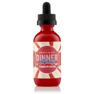 50ml Shortfill e-liquid bottle Dinner Lady Strawberry Custard