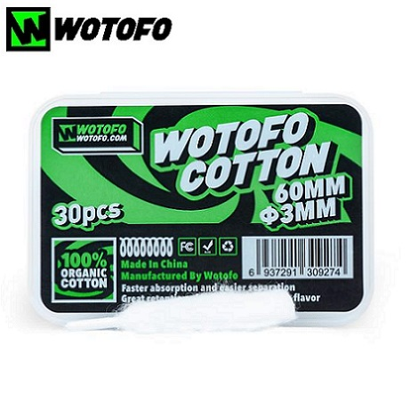 Wotofo Organic cotton in the box