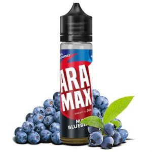 Aramax Max Blueberry 60ml Shorftill e-liquid bottle