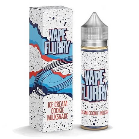 50ml bottle of Vape Flurry e-liquid - Ice Cream Cookie Milkshake