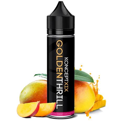 KonceptXIX Golden Thrill eliquid bottle with mango fruit