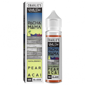 Pacha Mama Huckleberry Pear Acai 60ml e-liquid bottle