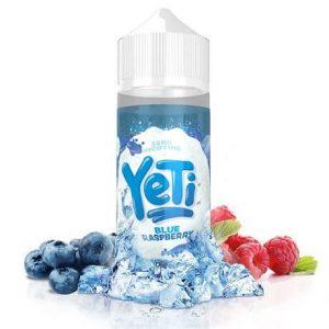 120ml E-juice bottle Yeti Blue Raspberry with ice and fruits