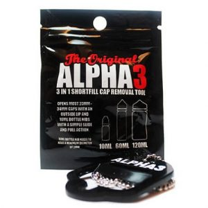 Alpha3 Cap E-juice bottle remover with packaging