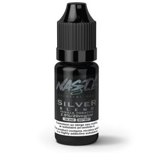 Silver Blend 10ml nicotine salt e-liquid by Nasty Juice