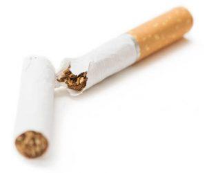 Broken cigarette - quit smoking