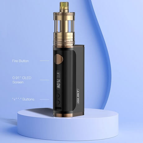 Aspire Glint GT kit buttons and settings
