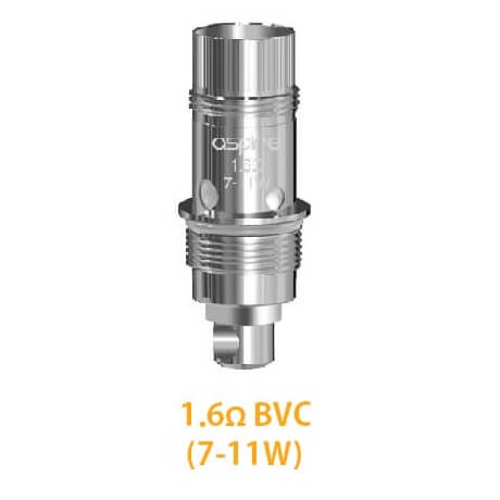 Nautilus BVC Coils by Aspire with resistance 1.6ohm MTL