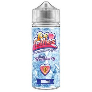 Ice Lollies Blue Raspberry 100ml e-liquid bottle
