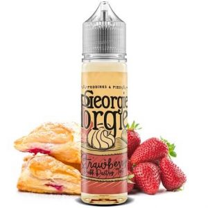 Strawberry Puff Pastry 60ml e-liquid bottle by Georgie Porgie with pastry