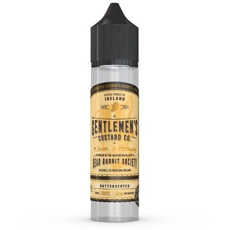 Butterscotch Gentlemen's Custard 60ml e-liquid bottle by DRS